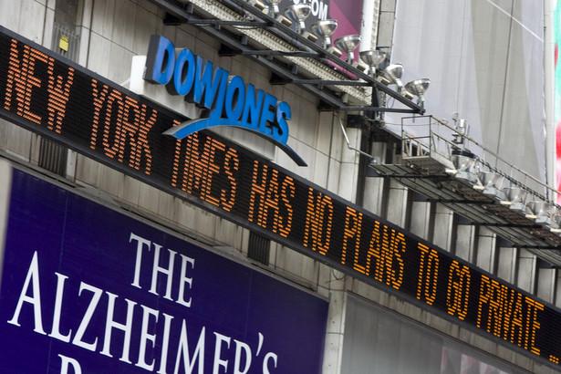 Pasek z informacjami Dow Jones, Nowy Jork