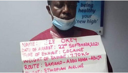NDLEA arrests trafficker with N23bn cocaine at Abuja airport (NAN)