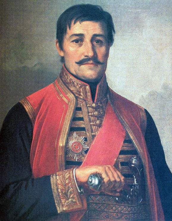 """Uroš Predić, """"Karađorđe"""" (detalj)"""