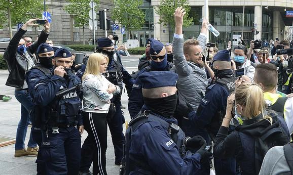 Protest je vodio Pavel Tanajno, nezavisni kandidat na poljskim predsedničkim izborima