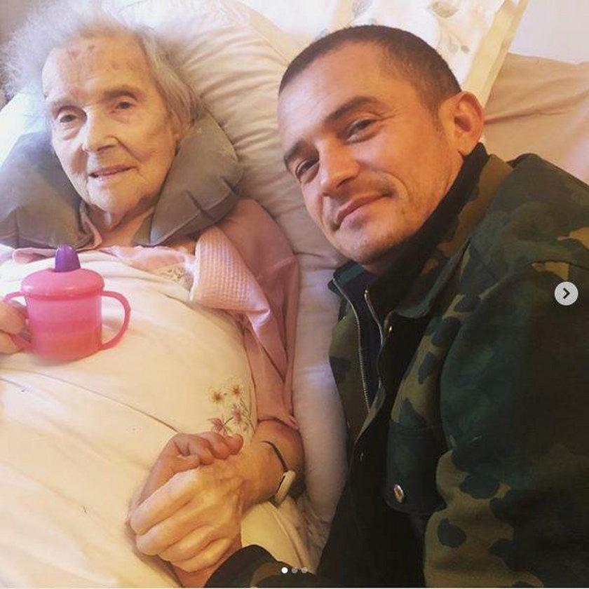 Orlando Bloom z babcią