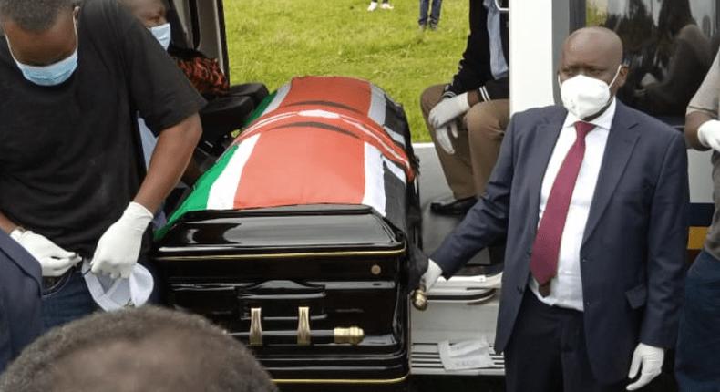 Governor John Nyagarama laid to rest at his home in Nyamira (Courtesy)