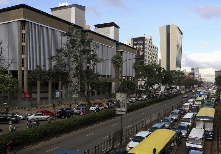 A view of evening traffic near Kenya's Central Bank offices in capital Nairobi November 10, 2015. REUTERS/Noor Khamis
