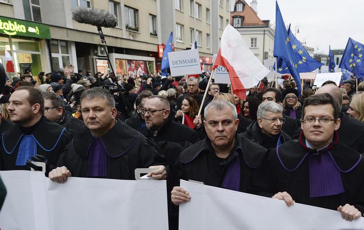 Varšava, protest,