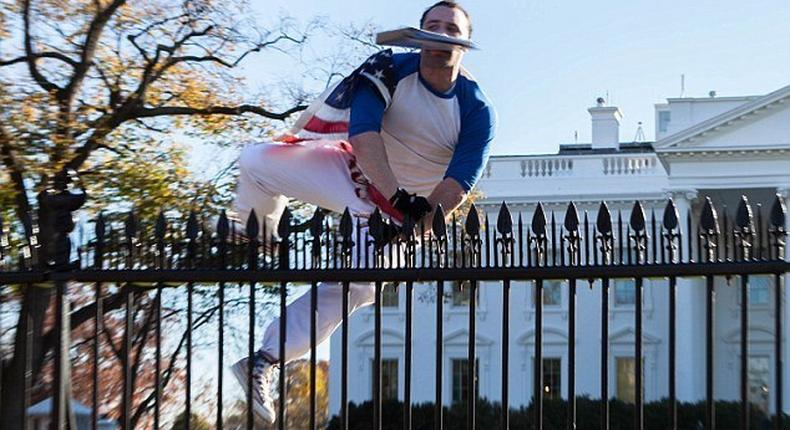White House locked down after man jumped fence with suspicious package while Obama was inside