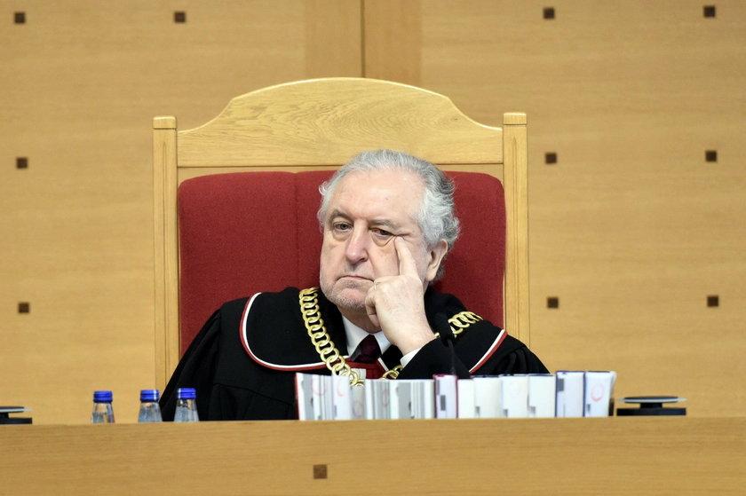 Andrzej Rzepliński podczas rozprawy