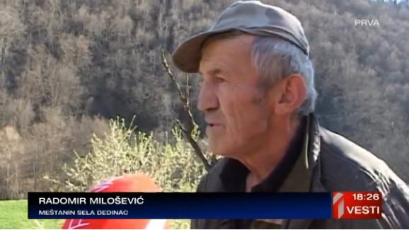 Radomir Milošević, meštanin sela Dedinac