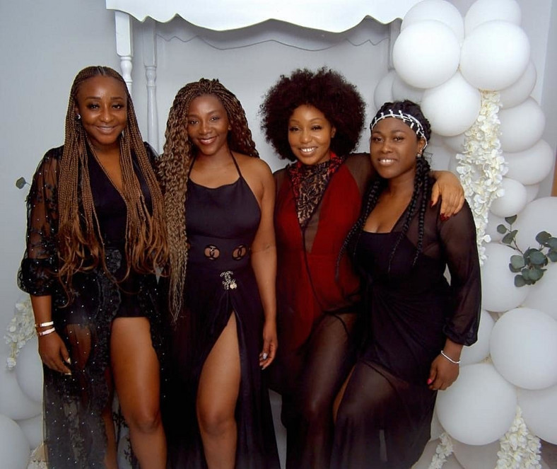 Ini Edo, Genevieve Nnaji, Rita Dominic and Uche Jombo reunite for the movie 'GirlsCot' [Instagram/UcheJombo]