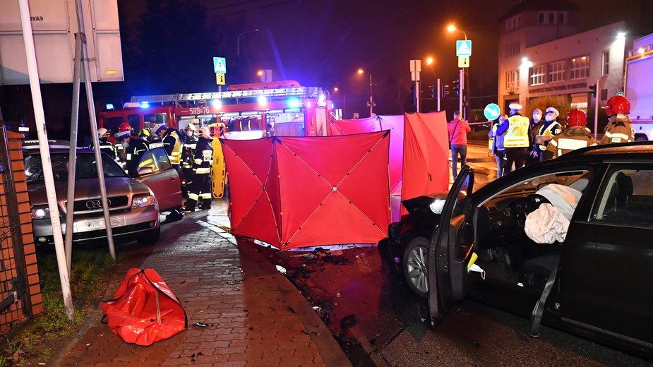 Miejsce wypadku w Piastowie