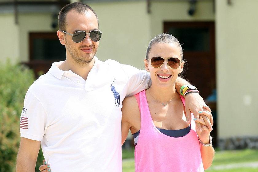 Ewa Chodakowska z partnerem