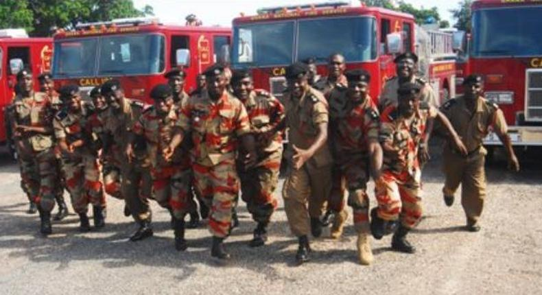 Personnel of the Ghana National Fire Service