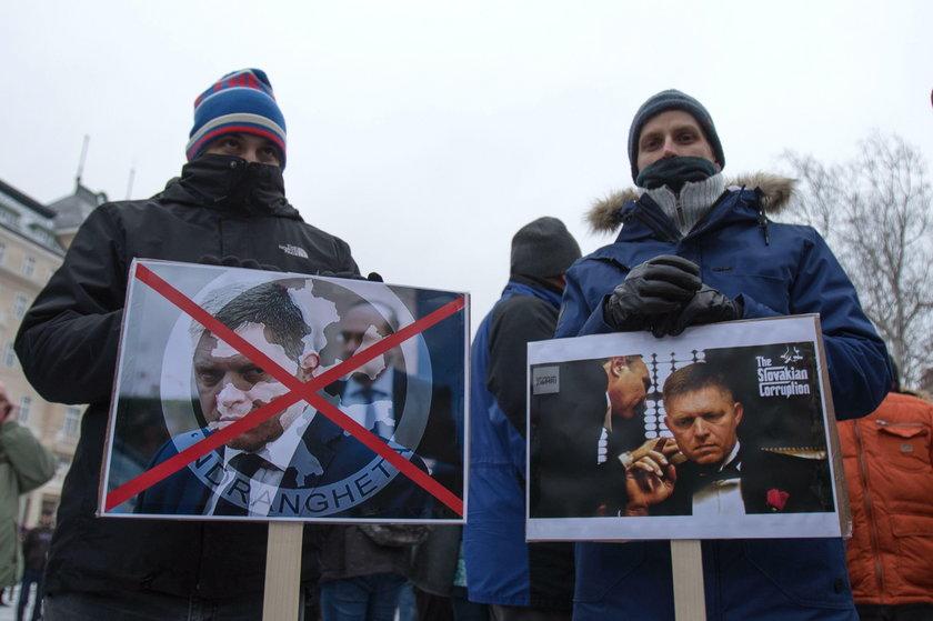 Demonstracje w Słowacji po zabójstwie dziennikarza