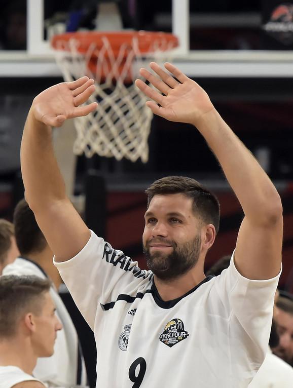 Felipe Rejes, jedan od čuvenih košarkaša Reala, slavi treće mesto