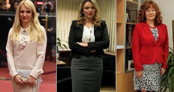 Dame u gradskoj vlasti: Dragana Belojević, Nataša Stojisavljević i Vera Dražić