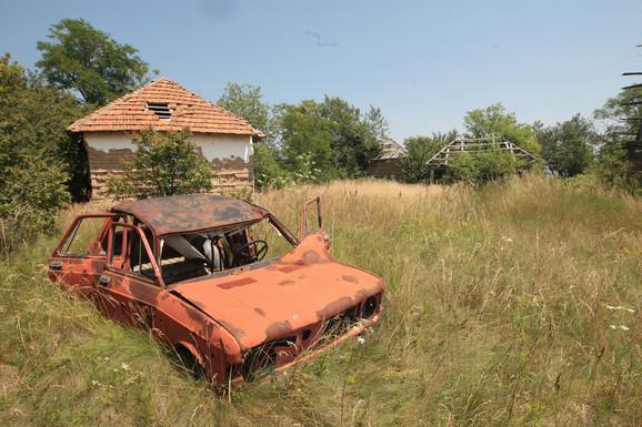 Napušteno selo u blizini Kuršumlije
