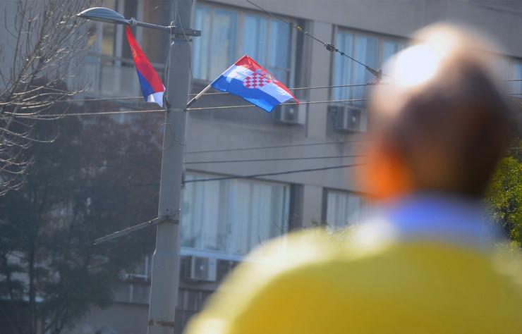 Zastave Hrvatske i Srbije