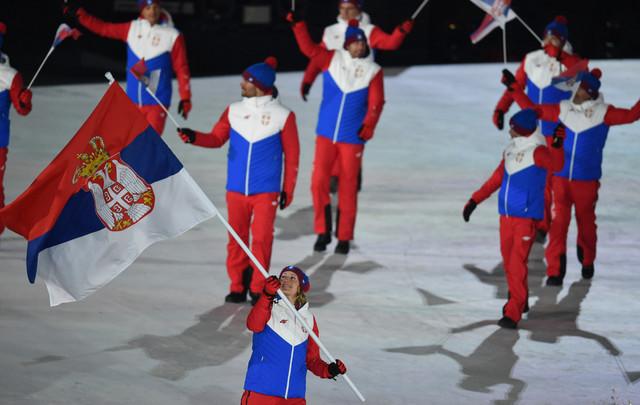 Srpska selekcija na svečanoj ceremoniji otvaranja Igara u Pjongčangu
