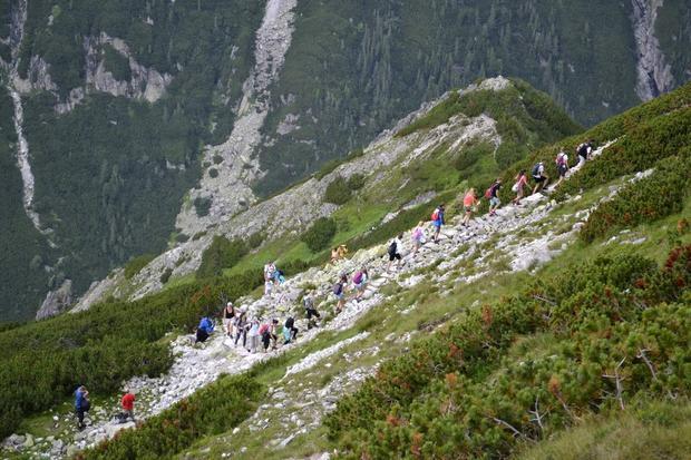 Turyści w Tatrach