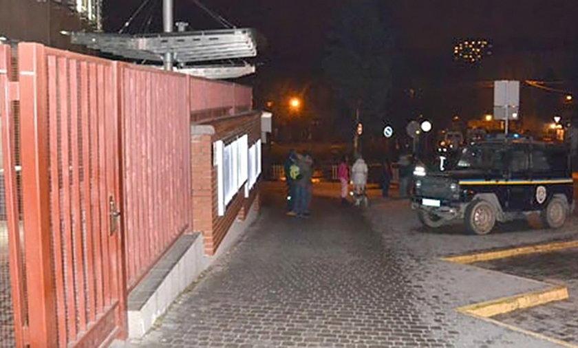 Bomba w konsulacie we Lwowie