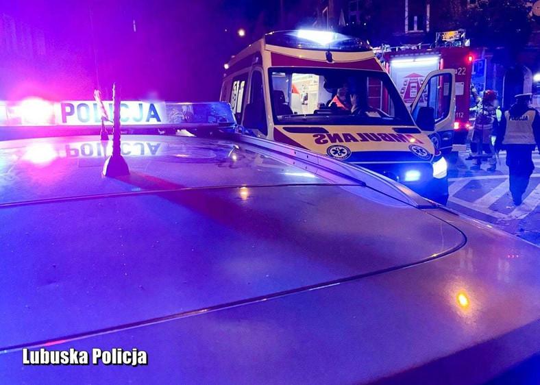 Miejsce wypadku w Gorzowie Wielkopolskim