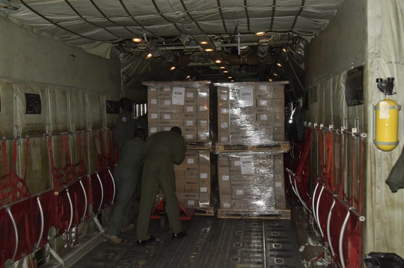 Air Force airlifts electoral materials across the country