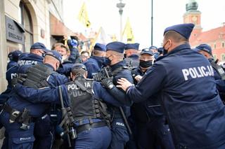 380 zatrzymanych w związku ze strajkiem przedsiębiorców w Warszawie
