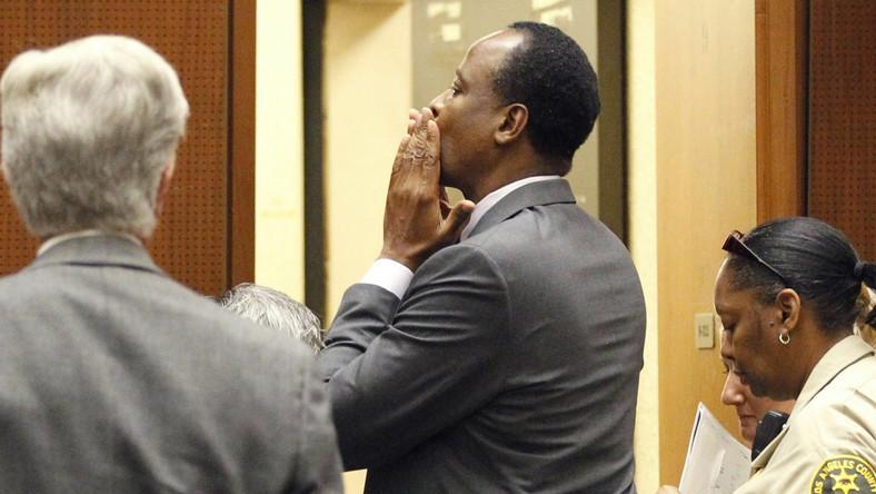 Conrad Murray podczas ogłaszania wyroku