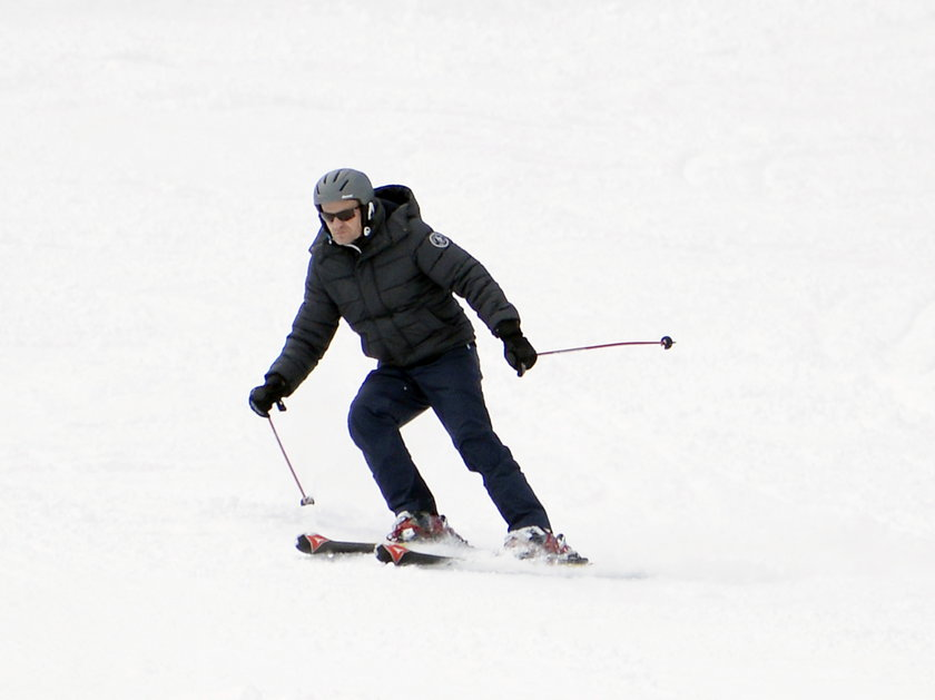 Były premier na nartach