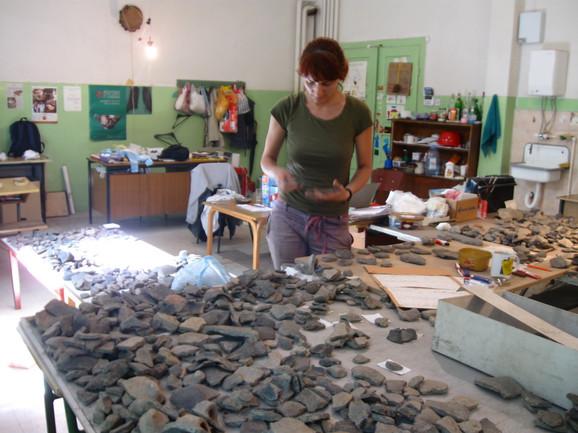 Obrada pronađenog materijala u Zavičajnom muzeju