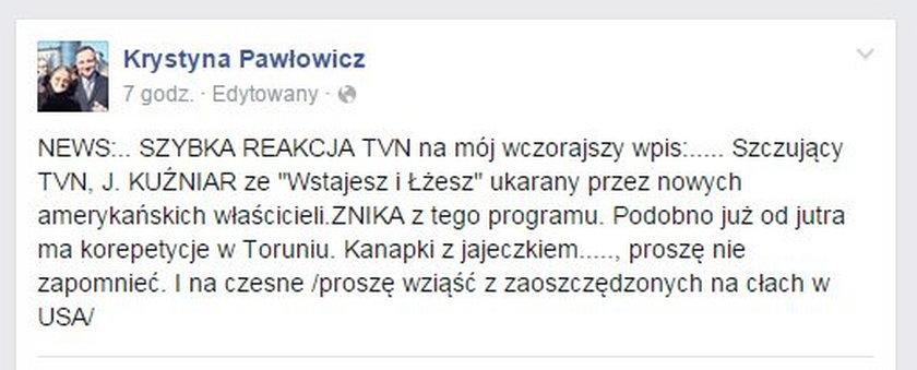 Kompromitacja prof. Pawłowicz z PiS