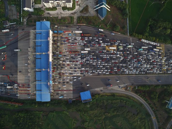 Traffic Jam After 3-day Holiday In Jiaxing