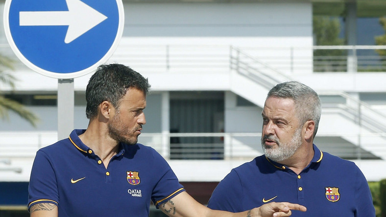Trener Barcelony, Luis Enrique (z lewej)