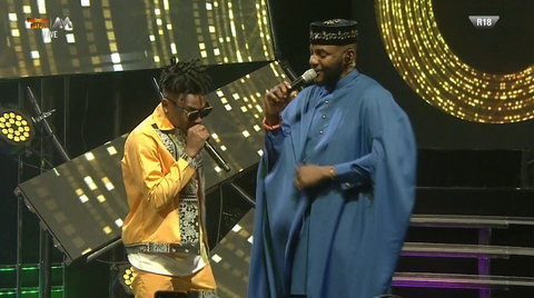 Mayorkun told Ebuka Obi-Uchendu that he's rooting for Tacha in the BBNaija Pepper Dem house. [Twitter/BigBroNaija]