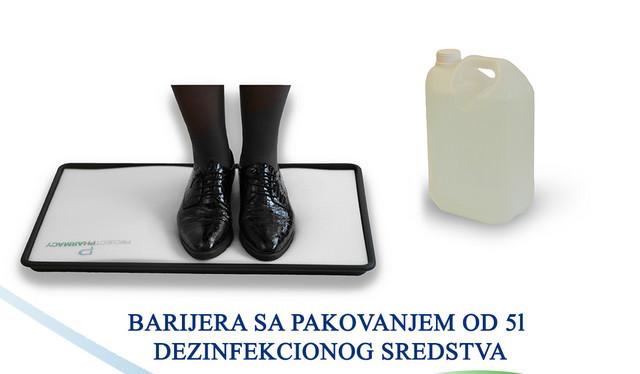 Barijera za dezinfekciju obuće