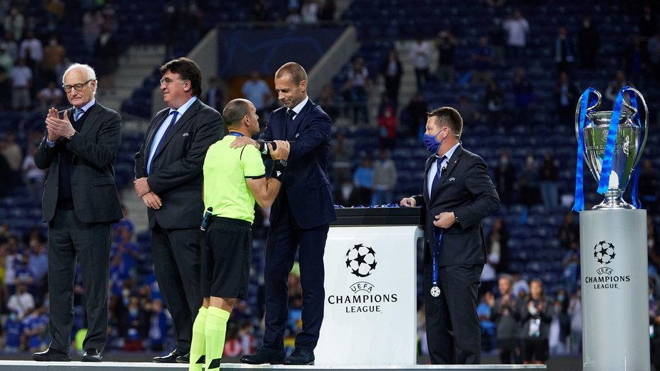 Przedstawiciele UEFA podczas finału Champions League
