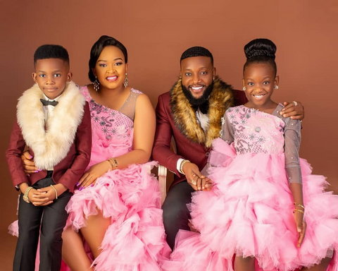 Ijeoma and Kcee are blessed with two beautiful children [Instagram/MisseIjay]