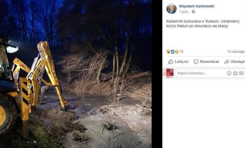 Katastrofa budowlana w Rutkach. Wsi groziło podtopienie!