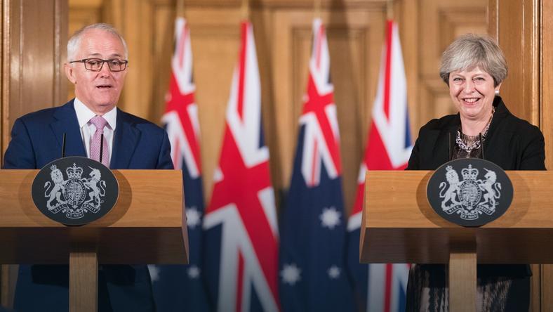 Australijski premier Malcolm Turnbull i brytyjska premier Theresa May