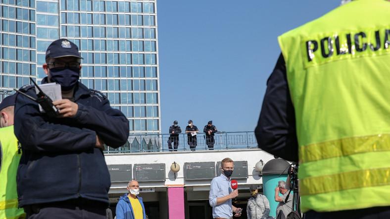 Policja podczas strajku przedsiębiorców