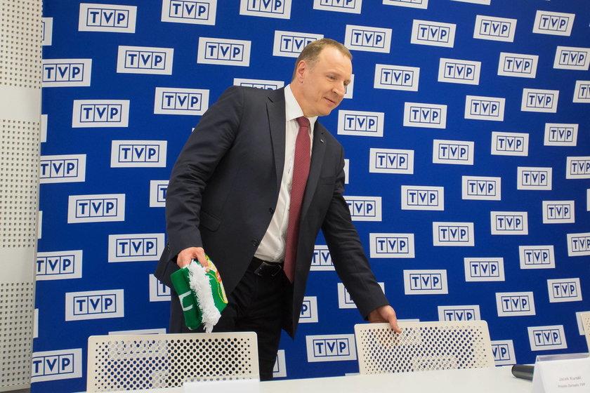 Konferencja prasowa prezesów Legii i TVP