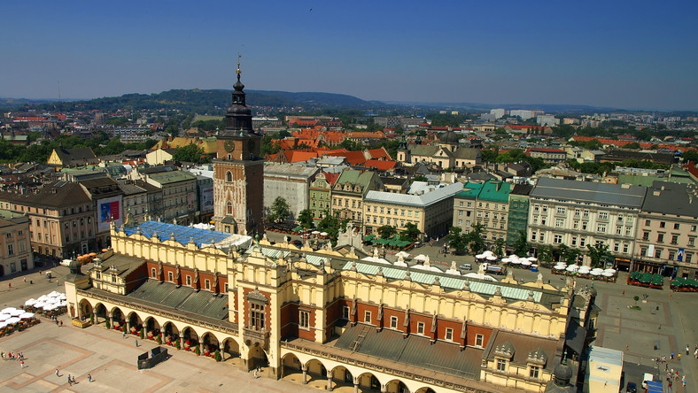 Kraków, widok na Rynek Starego Miasta