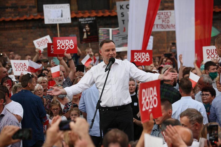 Andrzej Duda na wiecu wyborczym