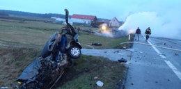 Tragedia na Podlasiu! Trzej kierowcy spłonęli w autach