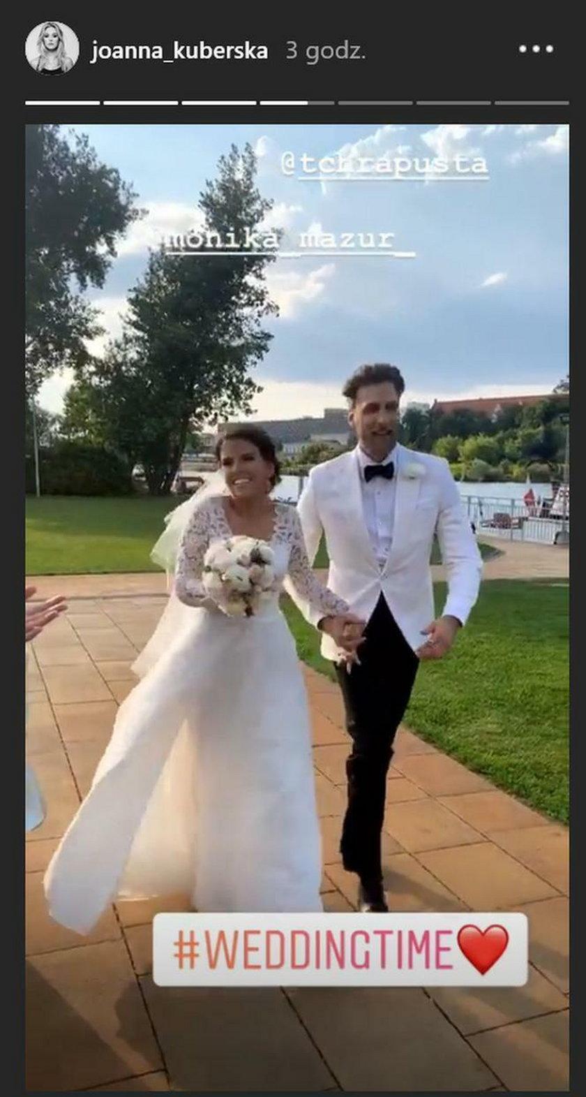Monika Mazur I Tomasz Chrapusta ślub
