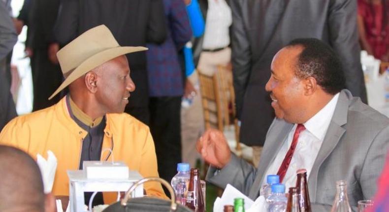 DP Ruto with Ferdinand Waititu at the wedding