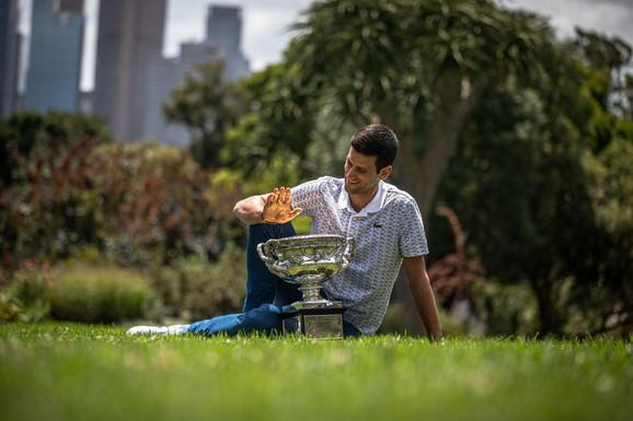 Novak Đoković je osmi put pozirao u Albert parku