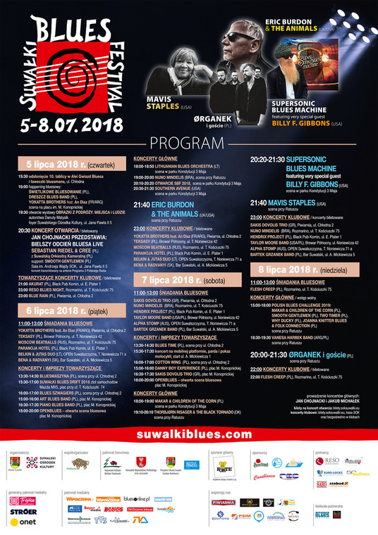 Program 11. Suwałki Blues Festival