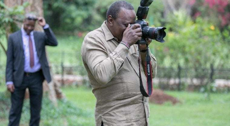 Uhuru joins crew in filming local show, gives one instruction after being filmed [Video]