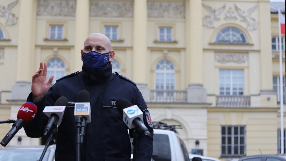 Rzecznik prasowy Komendanta Stołecznego Policji nadkom. Sylwester Marczak
