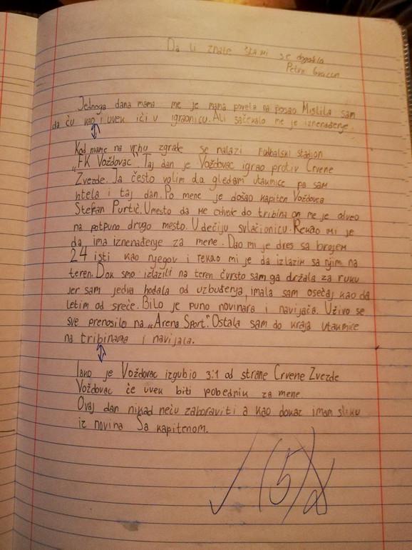 Pismeni zadatak Petre koji je oduševio srpsku javnost